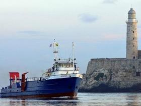 El buque Ana Cecilia que la compañía International Port Corp. utiliza para sus envíos a la Isla