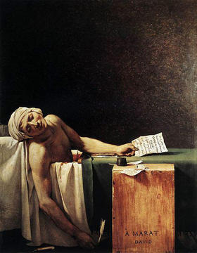 Muerte de Marat, de Jacques-Louis David
