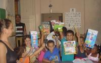 Celebración del Día de los Reyes Magos en una biblioteca independiente de la Isla. (BIBLIOCUBA.ORG)
