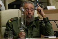 Castro con un 'bombillo ahorrador'