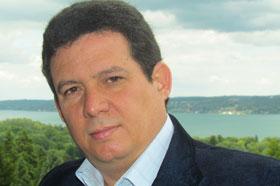 El escritor Amir Valle en la Residencia Internacional para Escritores Villa Waldberta, Alemania
