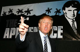 Donald Trump durante un evento del programa The Apprentice en Hollywood, en esta foto de archivo