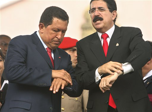 Image result for Manuel Zelaya + hugo chavez
