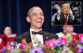 Obama ridiculizó a Trump en cena de corresponsales