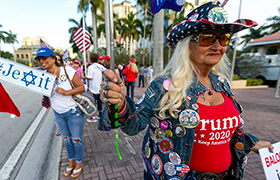 Partidarios de Trump en West Palm Beach