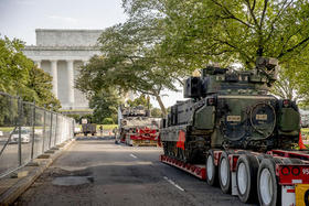 Tanques de guerra en la capital de Estados Unidos