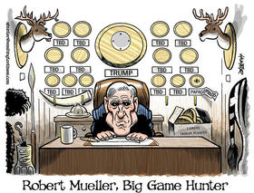 Robert Mueller, Cazador de piezas mayores, de Alexander Hunter para The Washington Times