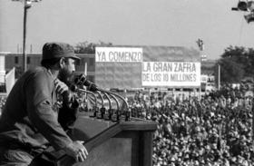 Fidel Castro durante la época de la «Zafra de los Diez Millones»
